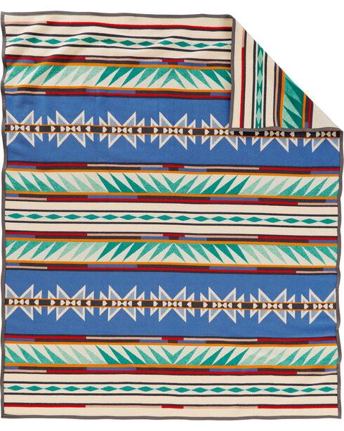 Pendleton Turquoise Ridge Pattern Blanket, Multi, hi-res