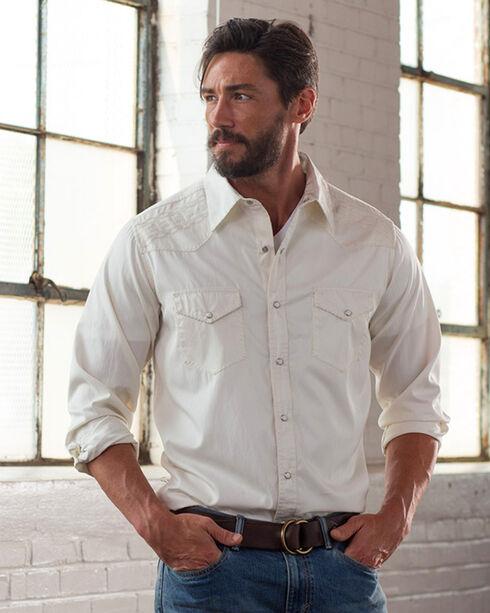 Ryan Michael Men's White Ship Stitch Gabardine Shirt , White, hi-res