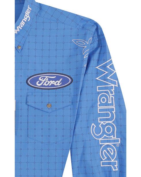 Wrangler Men's Blue Ford Western Logo Shirt - Big and Tall , Blue, hi-res