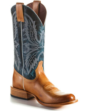 Horse Power Men's Golden Haystack Cowboy Boots - Round Toe, Tan, hi-res