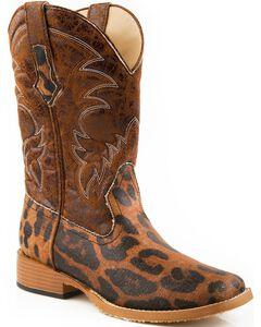Roper Leopard Print Cowgirl Boots - Square Toe, , hi-res