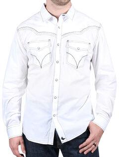Cody James Men's White Sands Long Sleeve Shirt, White, hi-res