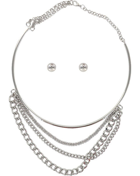 Shyanne Women's Layered Chain Jewelry Set, Silver, hi-res