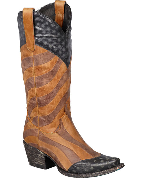 Lane Faded Glory Cowgirl Boots - Snip Toe, Am Spirit, hi-res