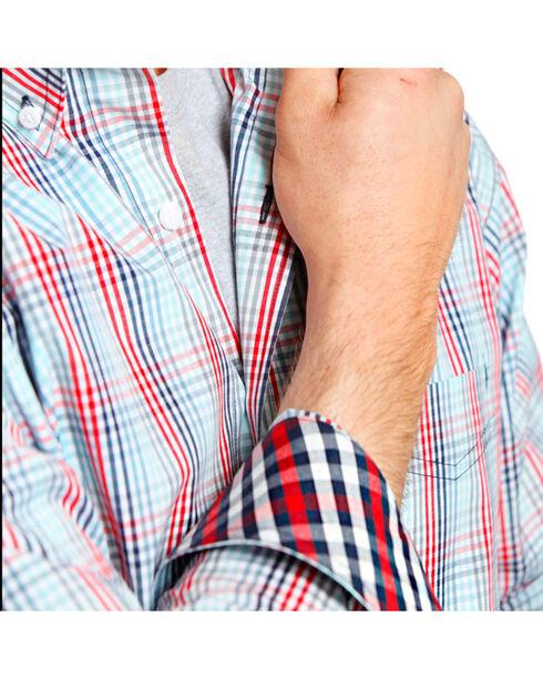 Tuf Cooper Men's Plaid Western Shirt, Coral, hi-res