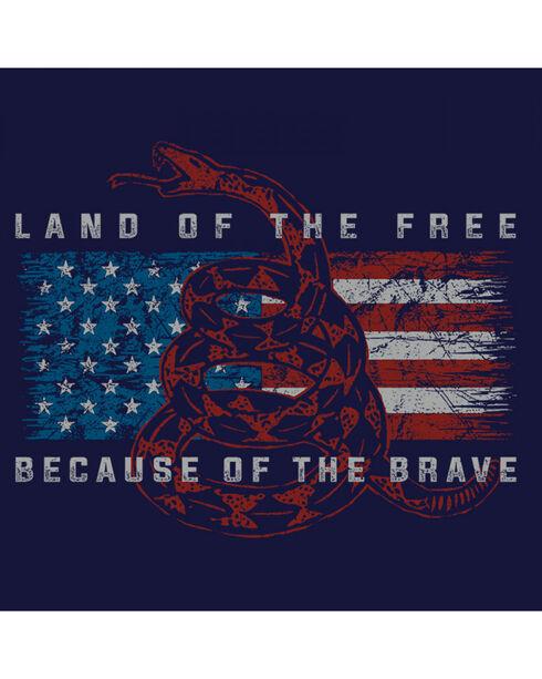 Buck Wear Men's Navy Land Of The Free Tee , Navy, hi-res