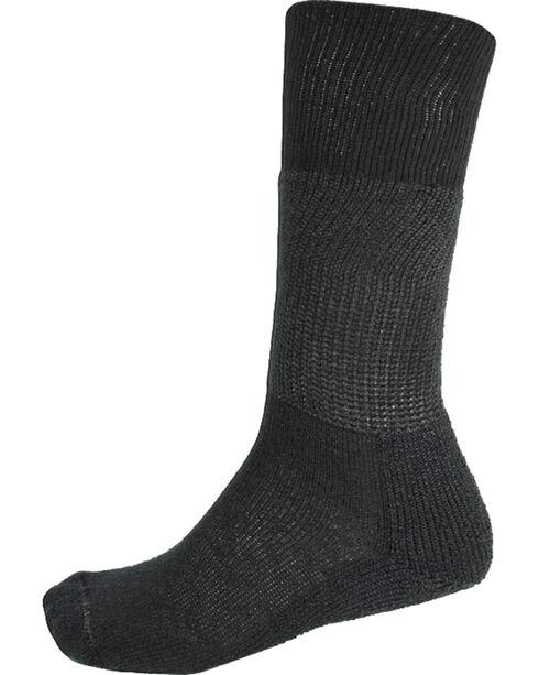 Thorlo Men's 1-Pair Over the Calf Western Dress Socks, Black, hi-res