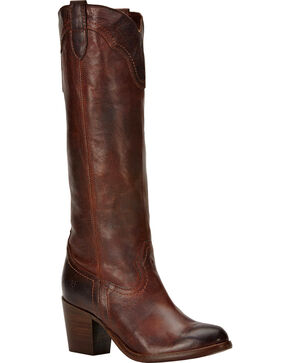 Frye Tabitha Pull On Tall Boots, Dark Brown, hi-res