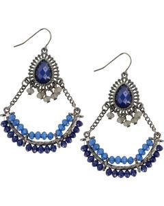 Shyanne® Women's Blue Chandelier Earrings, Blue, hi-res