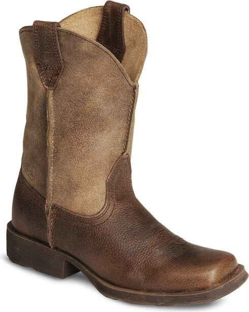 Ariat Boys' Earth Rambler Cowboy Boot - Square Toe, Earth, hi-res