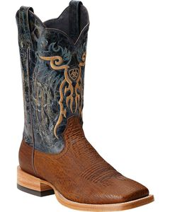Ariat Shallow Water Sharkskin Cowboy Boots - Square Toe, , hi-res