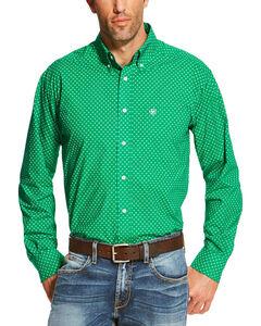 Ariat Men's Green Oswego Long Sleeve Button Down Shirt , Green, hi-res