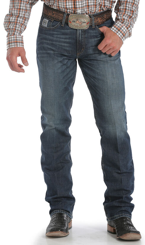 Cinch Men's Silver Label Dark Wash Performance Jeans, Dark Stone, hi-res