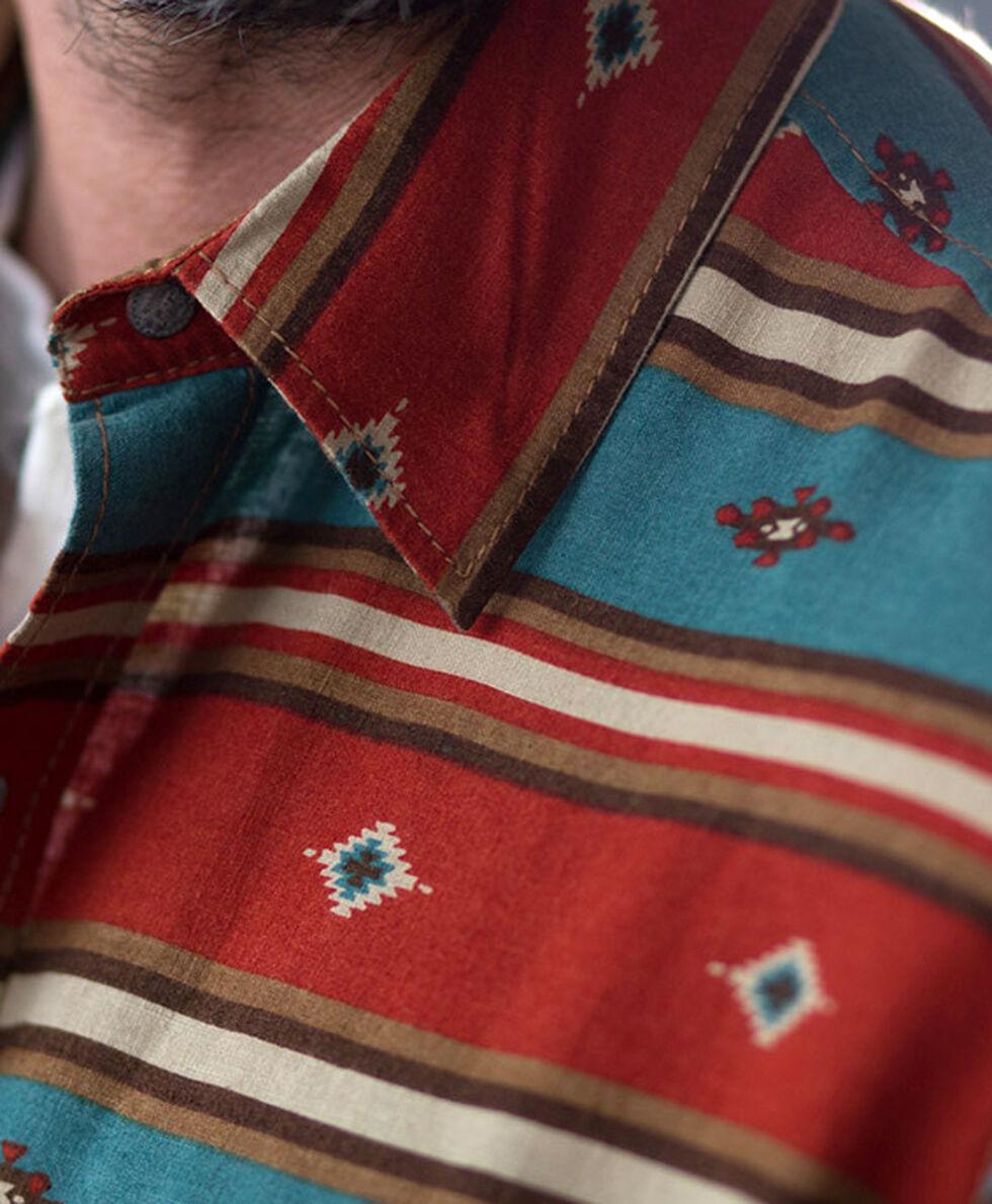 Ryan Michael Men's Serape Stripe Print Shirt, Chili, hi-res