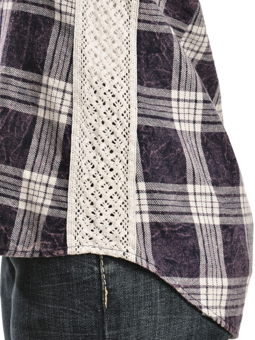 White Crow Women's Stevie Plaid Shirt, Blue, hi-res