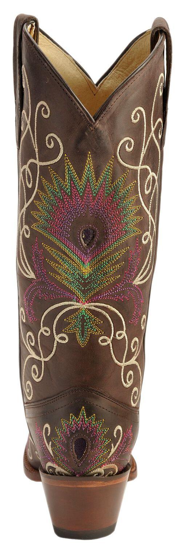 Tony Lama Vaquero Vail Cowgirl Boots - Snip Toe, Espresso, hi-res