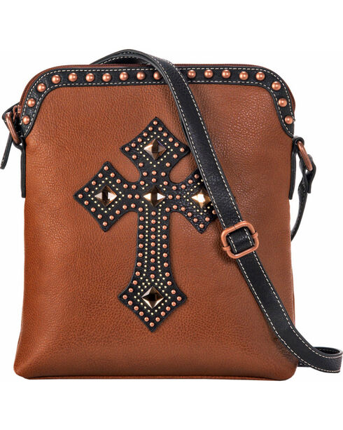 Blazin Roxx Women's Delilah Messenger Bag , Rust Copper, hi-res