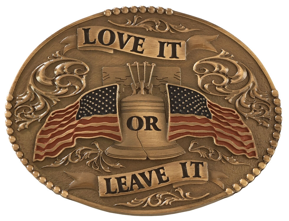 Cody James Love It or Leave It with American Flag Belt Buckle, Multi, hi-res