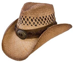 Charlie 1 Horse Dirt Road Straw Cowboy Hat, Tea, hi-res