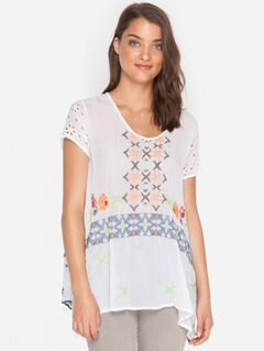 Johnny Was Wilson Tunic, White, hi-res