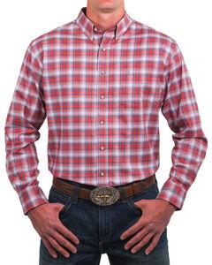 Noble Outfitters Men's Adobe Plaid Long Sleeve Shirt, Orange, hi-res