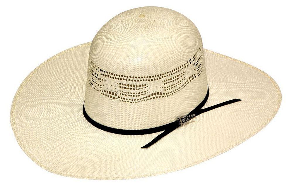 Twister Premium Bangora Open Crown Straw Cowboy Hat, Natural, hi-res