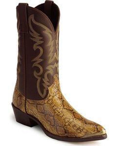 Laredo Python Print Cowboy Boots - Pointed Toe, , hi-res