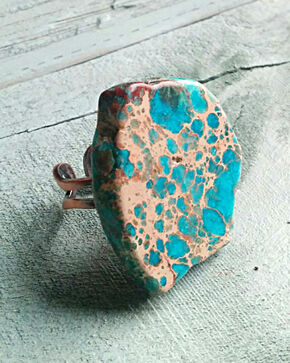 Jewelry Junkie Chunky Blue Regalite Ring, Blue, hi-res