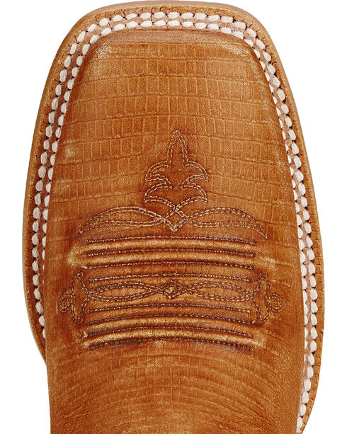 Ariat Gringa Natural Lizard Print Cowgirl Boots - Square Toe, Tan, hi-res