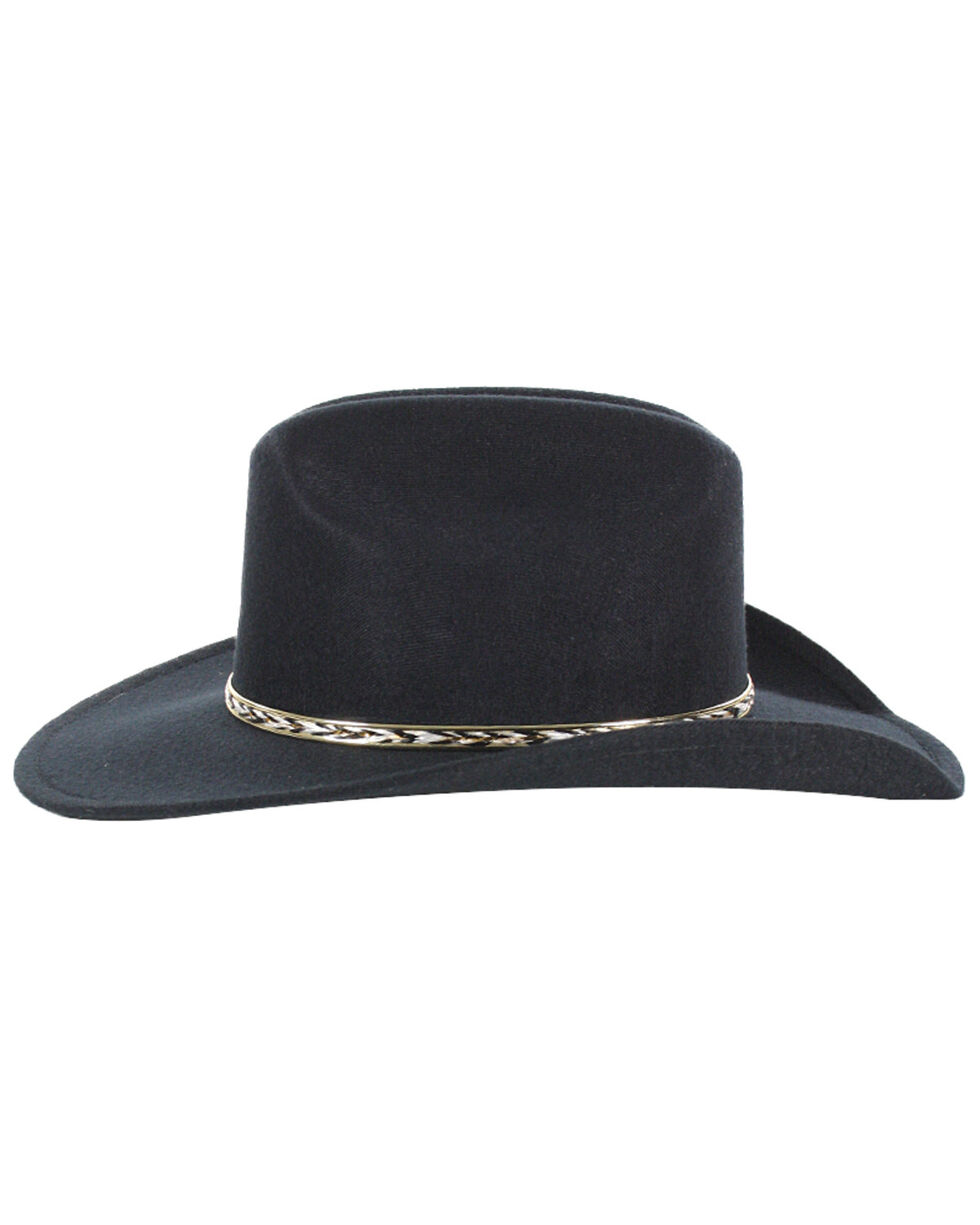 Cody James Boys' Metal Band Cowboy Hat, Black, hi-res