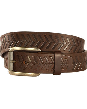 Chippewa Men's Dark Brown Farming Boy Leather Belt , Brown, hi-res