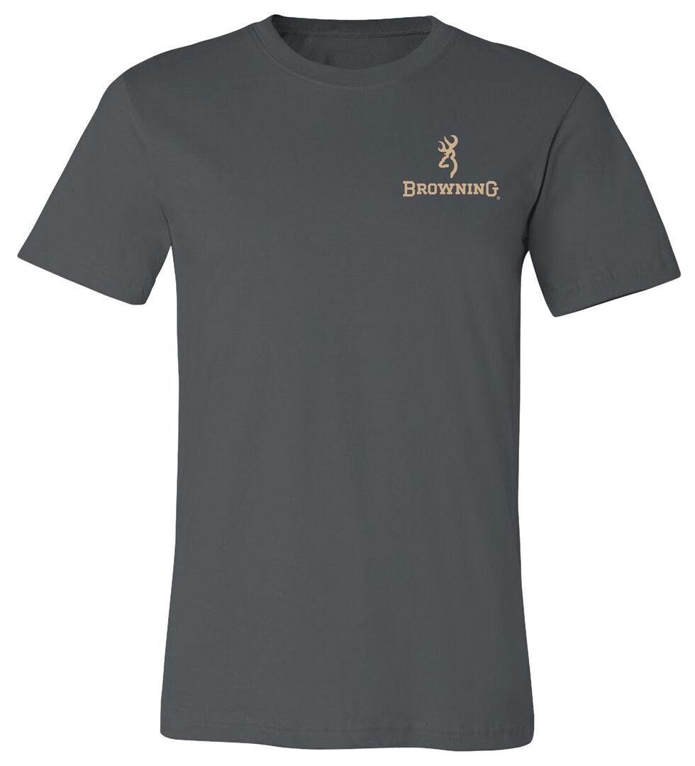 Browning Men's Pheasant Buckmark Asphalt Short Sleeve Tee, Grey, hi-res