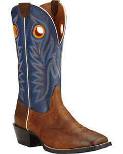 Ariat Federal Blue Sport Outrider Cowboy Boots - Square Toe , , hi-res