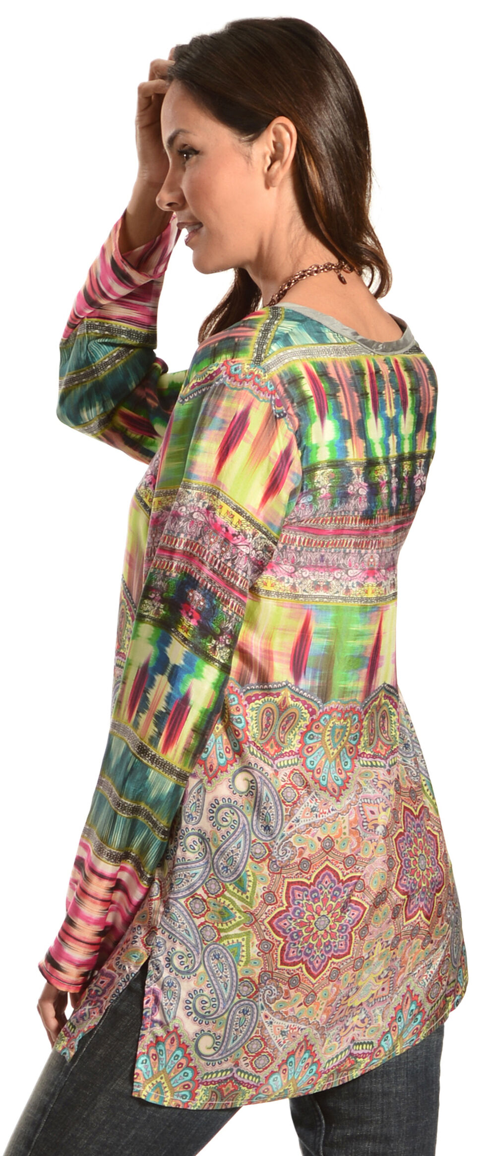 Johnny Was Women's Scoopneck Tunic, Print, hi-res