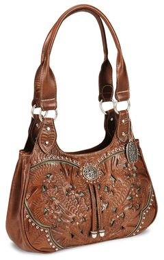 American West Lady Lace Tote Handbag, , hi-res