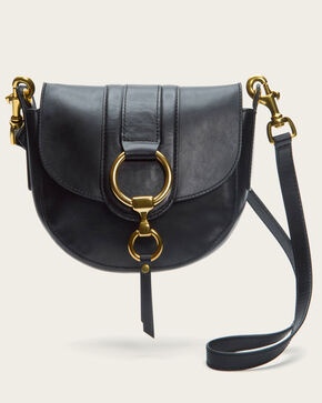 Frye Women's Ilana Harness Mini Saddle Bag, Black, hi-res