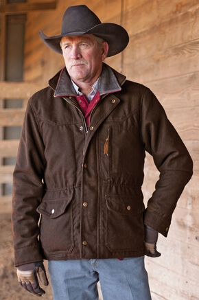 STS Ranchwear Men's Smitty Chocolate Brown Barn Jacket - Big & Tall - 4XL, Chocolate, hi-res