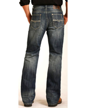 Rock & Roll Cowboy Men's Double Barrel Boot Jeans - Boot Cut , Blue, hi-res