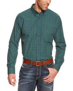 Ariat Princeton Plaid Performance Long Sleeve Shirt - Big & Tall, Pine, hi-res