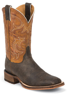 Justin Men's Bent Rail Cowboy Boots - Square Toe, , hi-res