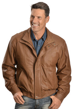 Scully Double Collar Leather Jacket, Brown, hi-res