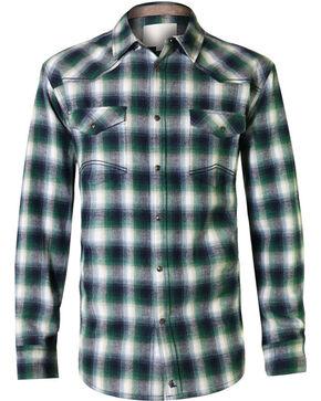 Cody James Men's Shrub Long Sleeve Plaid Flannel, Green, hi-res