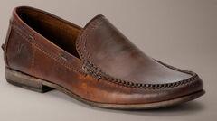 Frye Lewis Leather Venetian Loafers, Dark Brown, hi-res