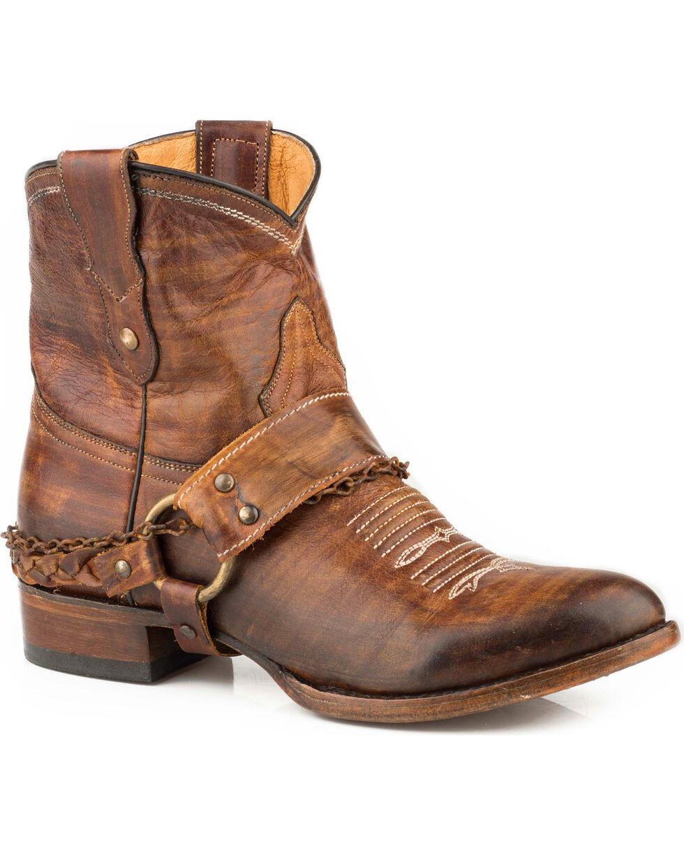 Roper Women's Brown Selah Short Boots - Round Toe , Brown, hi-res