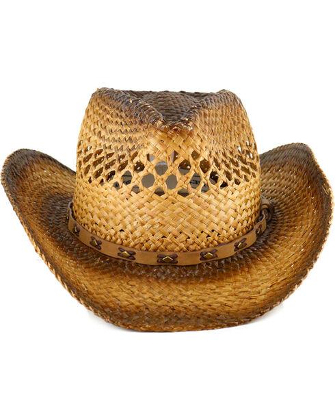Cody James Men's Studded Straw Hat, Natural, hi-res
