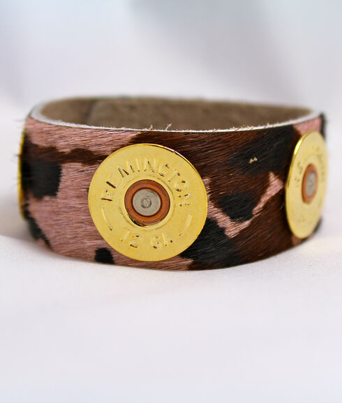 SouthLife Supply Women's Pink Camo Cuff in Traditional Gold, Gold, hi-res