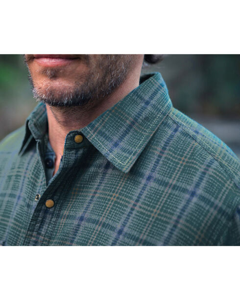 Ryan Michael Men's Vintage Jaspe Plaid Shirt, Blue, hi-res