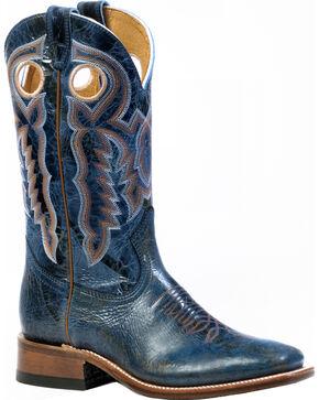 Boulet Puma Turqueza Cowgirl Boots - Square Toe, Blue, hi-res