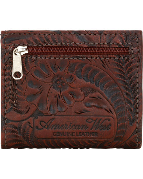 American West Boyfriend Ladies Chestnut Brown Bi-Fold Wallet, Chestnut, hi-res
