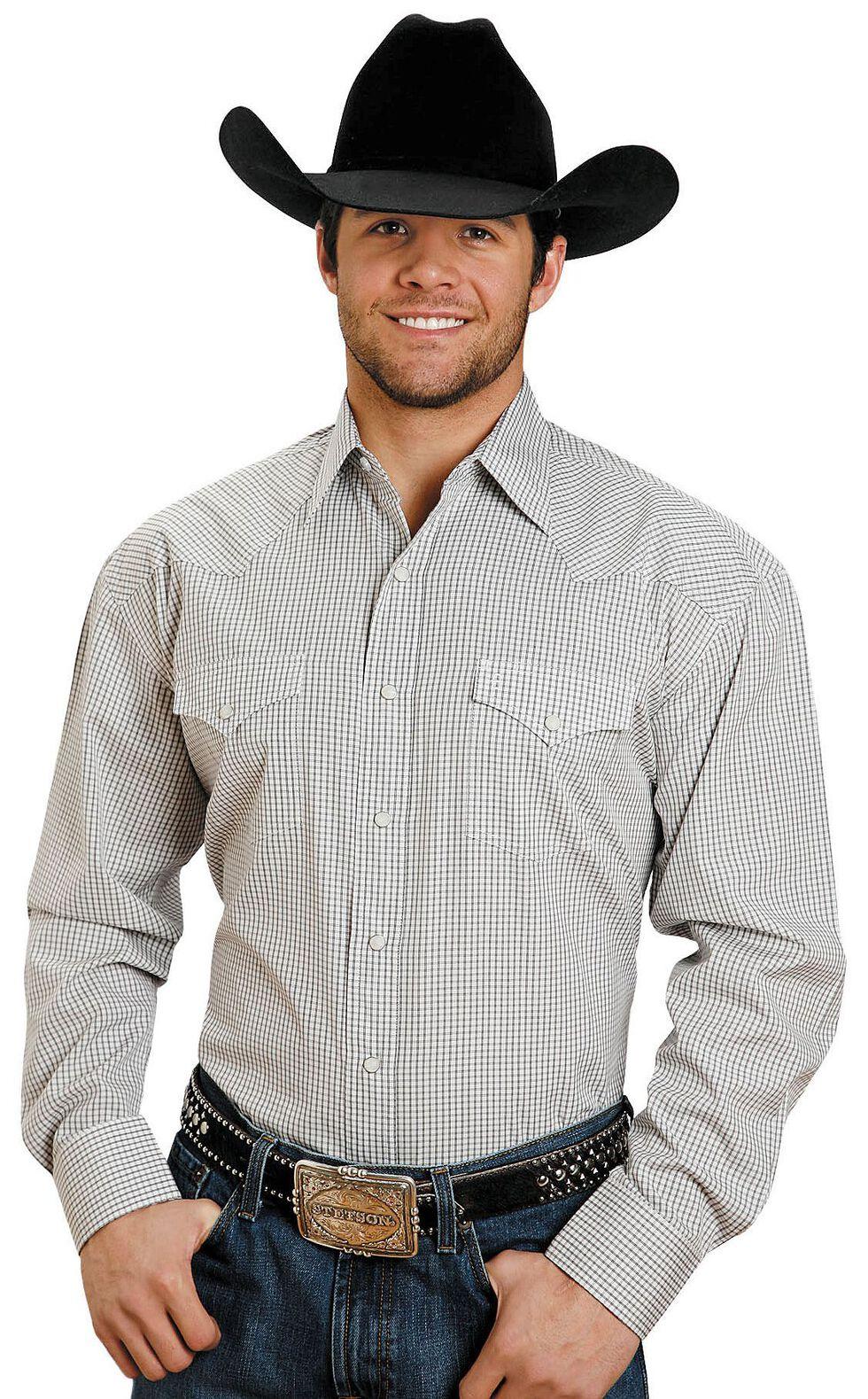 Stetson Snap Check Shirt, Brown, hi-res